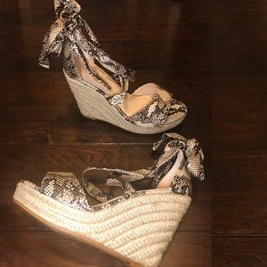 43509d60700 Shoes -  PRICE IS FIRM  Snake skin espadrilles wedge heels